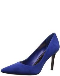 Zapatos de tacón de ante azul marino de Ralph Lauren