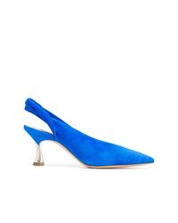 Zapatos de tacón de ante azules de Casadei