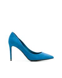 Zapatos de tacón de ante azules de Dolce & Gabbana