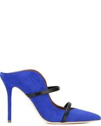 Zapatos de Tacón de Ante Azules de Malone Souliers