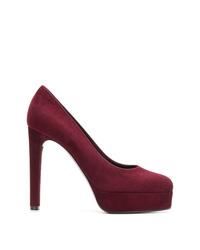 Zapatos de tacón de ante burdeos de Casadei