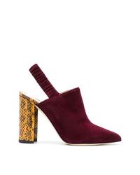 Zapatos de tacón de ante burdeos de Chloe Gosselin