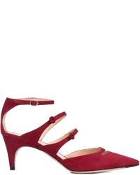 Zapatos de Tacón de Ante Burdeos de Derek Lam