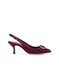 Zapatos de tacón de ante burdeos de Dolce & Gabbana