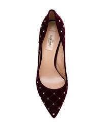 Zapatos de tacón de ante burdeos de Valentino