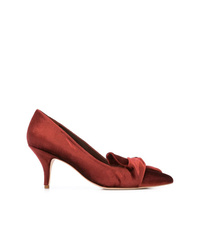 Zapatos de tacón de ante burdeos de Loeffler Randall