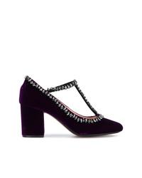 Zapatos de tacón de ante burdeos de N°21