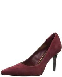 Zapatos de tacón de ante burdeos de Ralph Lauren