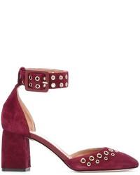 Zapatos de tacón de ante burdeos de RED Valentino