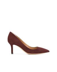 Zapatos de tacón de ante burdeos de Salvatore Ferragamo