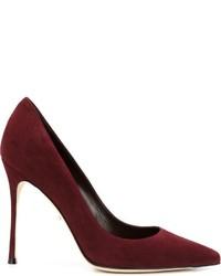 Zapatos de tacón de ante burdeos de Sergio Rossi