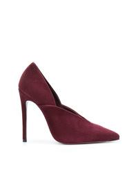 Zapatos de tacón de ante burdeos de Victoria Beckham