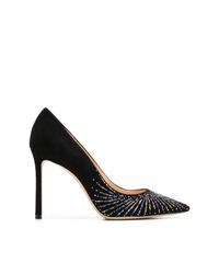 Zapatos de tacón de ante con adornos negros de Jimmy Choo