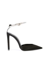 Zapatos de Tacón de Ante con Adornos Negros de Saint Laurent