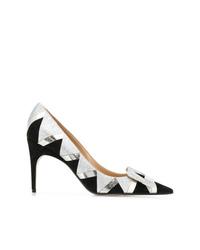 Zapatos de tacón de ante con adornos plateados de Sergio Rossi