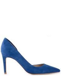 Zapatos de tacón de ante con recorte azules de Tory Burch
