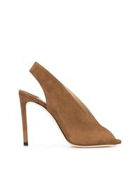 Zapatos de tacón de ante con recorte marrónes de Jimmy Choo