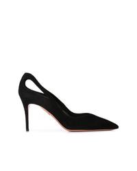 Zapatos de tacón de ante con recorte negros de Aquazzura