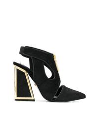 Zapatos de tacón de ante con recorte negros de Kat Maconie