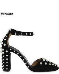 Zapatos de tacón de ante con tachuelas negros de Alexander Wang