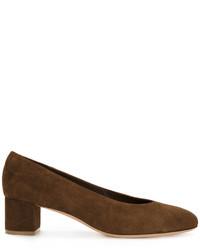 Zapatos de tacón de ante en marrón oscuro de Mansur Gavriel