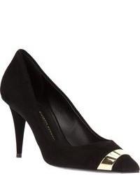Zapatos de tacón de ante en negro y dorado de Giuseppe Zanotti