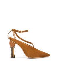 Zapatos de tacón de ante en tabaco de Jacquemus