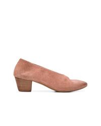 Zapatos de tacón de ante en tabaco de Marsèll