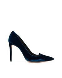 Zapatos de tacón de ante en verde azulado de Alexandre Birman
