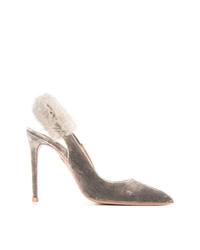 Zapatos de tacón de ante grises de Aquazzura