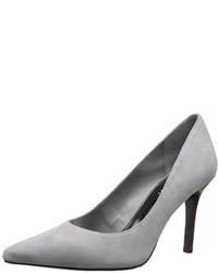 Zapatos de Tacón de Ante Grises de Ralph Lauren