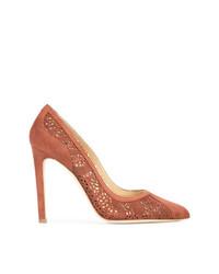 Zapatos de tacón de ante marrónes de Chloe Gosselin