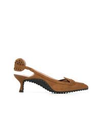 Zapatos de tacón de ante marrónes de Tod's