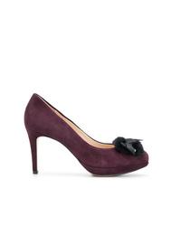 Zapatos de tacón de ante morado oscuro de Högl