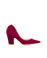 Zapatos de tacón de ante morado oscuro de Rupert Sanderson