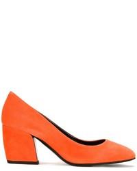 Zapatos de Tacón de Ante Naranjas de Pierre Hardy
