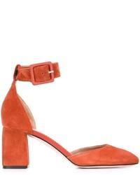 Zapatos de Tacón de Ante Naranjas de RED Valentino