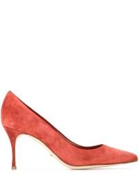 Zapatos de Tacón de Ante Naranjas de Sergio Rossi