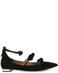 Zapatos de Tacón de Ante Negros de Aquazzura