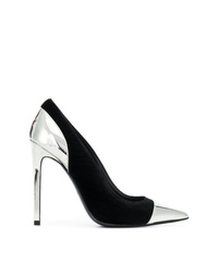 Zapatos de tacón de ante negros de Balmain
