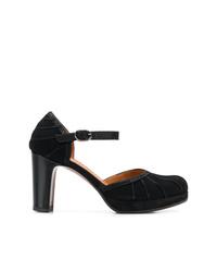 Zapatos de tacón de ante negros de Chie Mihara