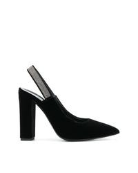 Zapatos de tacón de ante negros de Fabiana Filippi
