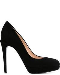 Zapatos de Tacón de Ante Negros de Fendi