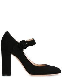 Zapatos de Tacón de Ante Negros de Gianvito Rossi