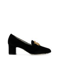 Zapatos de tacón de ante negros de Gucci