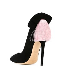 Zapatos de tacón de ante negros de Aleksander Siradekian
