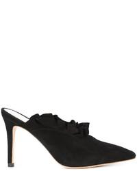 Zapatos de Tacón de Ante Negros de Loeffler Randall