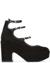Zapatos de Tacón de Ante Negros de Robert Clergerie