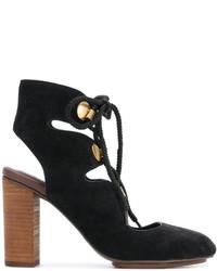 Zapatos de tacón de ante negros de See by Chloe