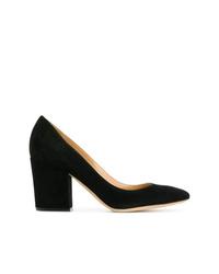 Zapatos de tacón de ante negros de Sergio Rossi